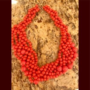 BaubleBar Hot Pink Bead Statement Necklace